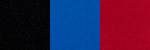 black-blue-red color swatch