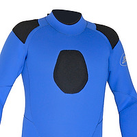 Gun pad on the chest of a wetsuit by JMJ Wetsuits