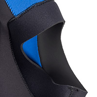 Detail photo of JMJ wetsuits dive hood with coldwater bib face seal