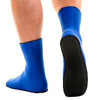 JMJ Knobby Sole Boot in blue showing sole