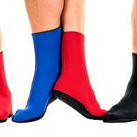 JMJ Knobby Sole Boot in red, blue and black