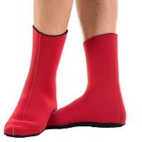 JMJ Knobby Sole Boot in red