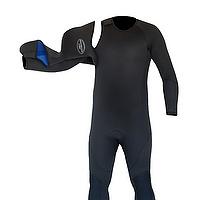 JMJ No-Zip Fullsuit with hood off