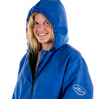 Head & shoulders photo of the JMJ Polar Fleece Jacket in blue