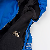 Closeup photo of the interior fleece lining and pocket on a JMJ Polar Fleece Jacket