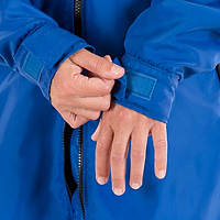 Closeup photo of the adjustable cuffs with Hook & Loop closures on the JMJ Polar Fleece Jacket