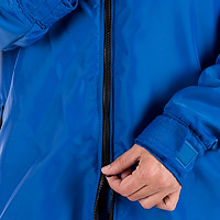 Closeup photo of the two-way zipper on a JMJ Polar Fleece Jacket
