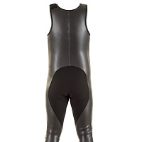 Back view of the JMJ Smoothie Farmer John wetsuit