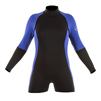 Front view of the JMJ Step In Jacket wetsuit in black with magic trim
