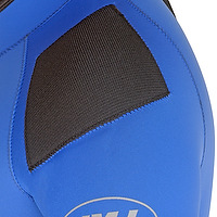 Shoulder pad on a wetsuit by JMJ Wetsuits
